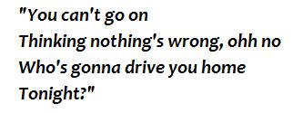 "Lyrics of ""Drive"""