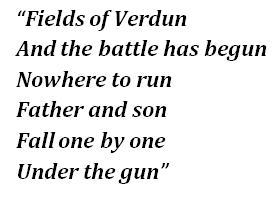 """Fields of Verdun"" lyrics"