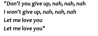"Lyrics of ""Let Me Love You"""