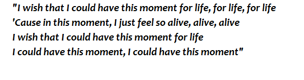 "Lyrics of ""Moment 4 Life"""