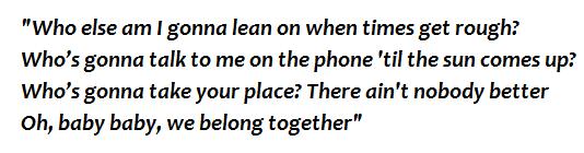 "Lyrics of ""We Belong Together"""