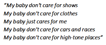 "Lyrics of ""My Baby Just Cares For Me"""
