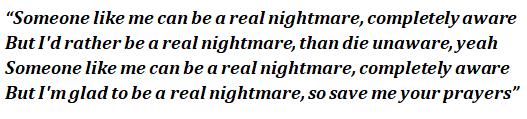 """Lyrics of """"Nightmare"""""""