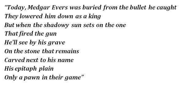 """Bob Dylan's """"Only a Pawn in Their Game"""" Lyrics Meaning"""