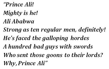 """Prince Ali"" lyrics"