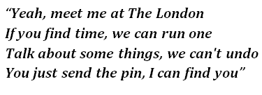 "Lyrics of ""The London"""