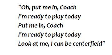 """Centerfield"" lyrics"