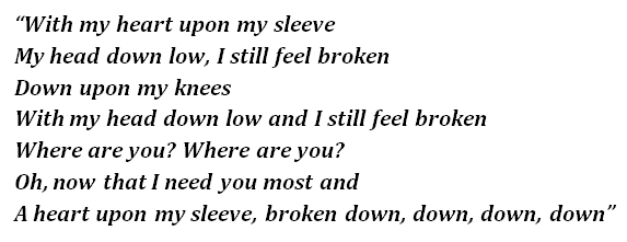 Heart Upon My Sleeve lyrics