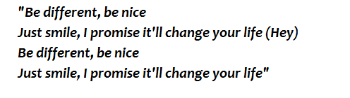 "Lyrics of ""Be Nice"""