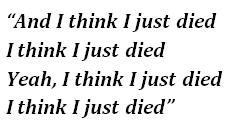 "Lyrics of ""Heaven"""