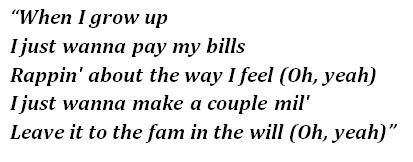 "Lyrics of ""When I Grow Up"""