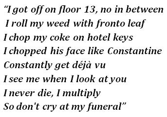 """""""Floor 13"""" lyrics"""