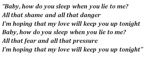 """Lyrics of """"How Do You Sleep?"""""""