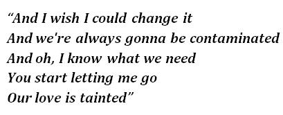 """Contaminated"" lyrics"