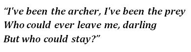 "The lyrics of ""The Archer"""