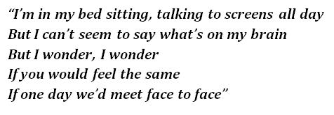 """Lyrics of """"Face to Face"""""""