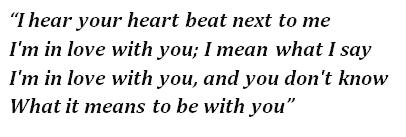 "Lyrics of ""Heart"""