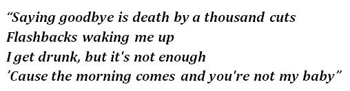 """Lyrics of """"Death by a Thousand Cuts"""""""
