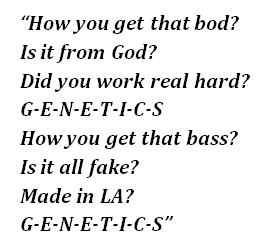 "Lyrics of ""Genetics"""