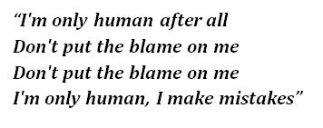 "Lyrics of ""Human"""
