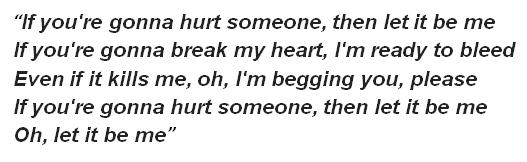 "Lyrics of ""Let It Be Me"""