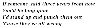 "Lyrics of ""Who Knew"""