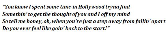 """Hollywood"" lyrics"