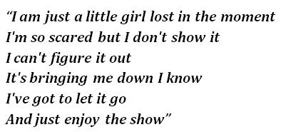 "Lyrics of ""The Show"""
