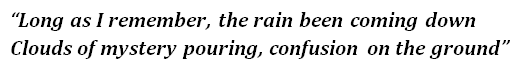 "Lyrics of ""Who'll Stop the Rain"""