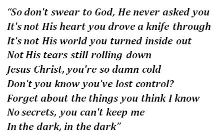 "Lyrics of ""In the Dark"""