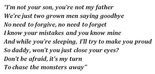 """Lyrics of """"Monsters"""""""