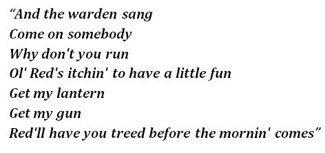 """Lyrics of """"Ol' Red"""""""