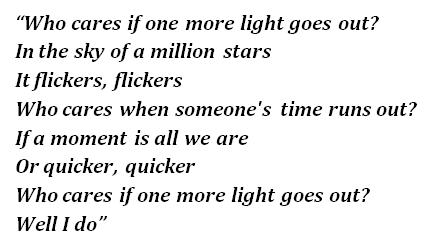 """Lyrics of """"One More Light"""""""