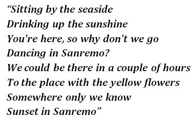 "Lyrics of ""Sanremo"""