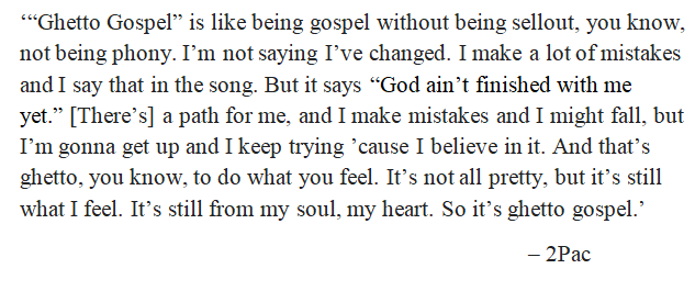 "2Pac talks about ""Ghetto Gospel"""