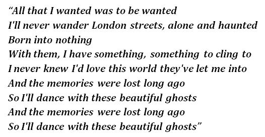 "Lyrics of ""Beautiful Ghosts"""