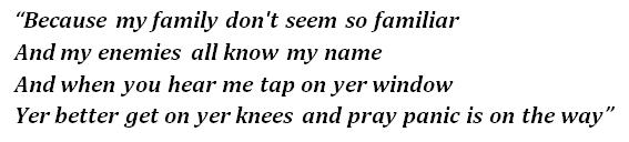 "Lyrics of ""Gas Panic"""