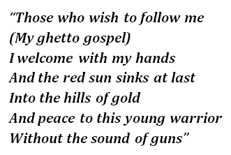 """Lyrics of """"Ghetto Gospel"""""""