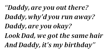 "Lyrics of ""Daddy"""