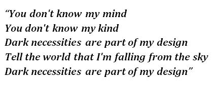 """Lyrics of """"Dark Necessities"""""""