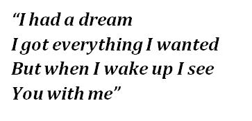 """Lyrics of """"Everything I Wanted"""""""