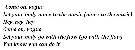 """Lyrics of """"Vogue"""""""