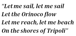 "Lyrics of ""Orinoco Flow (Sail Away)"""