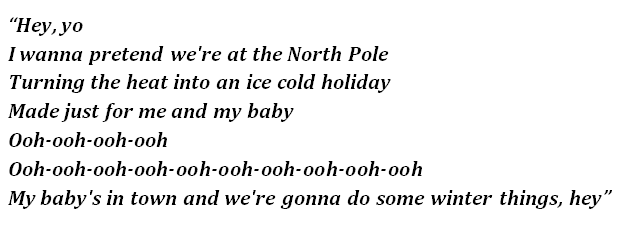 "Lyrics of ""Winter Things"""