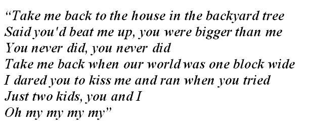 """Lyrics of """"Mary's Song"""""""
