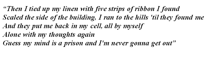 "Lyrics of ""Mind Is a Prison"""