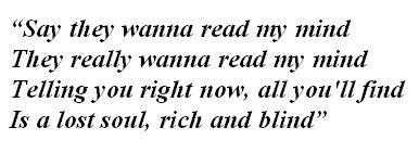 "Lyrics of ""Rich and Blind"""