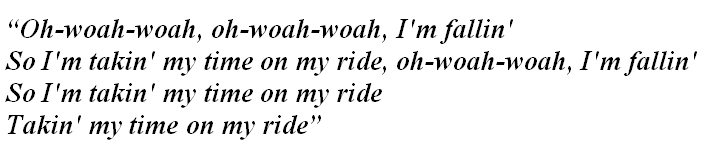"Lyrics of ""Ride"""