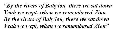 "Lyrics of ""Rivers of Babylon"""