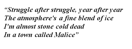 "Lyrics of ""Town Called Malice"""